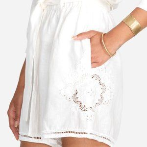 Johnny Was Shorts Antique White Small